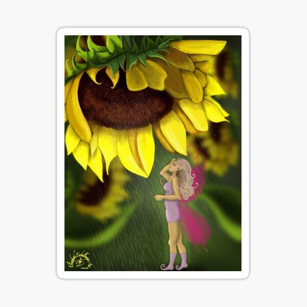 Sunflower Showers Sticker