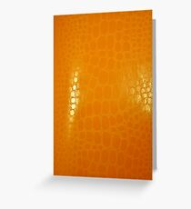 Orange Abstract Background Greeting Card