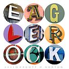 Eagle Rock Letters Poster by Escott O. Norton