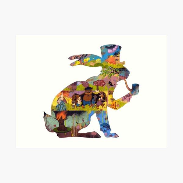 Fairy Tail - Rabbit silhouette Art Print