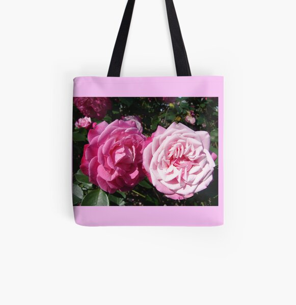 Pink Rose Photo All Over Print Tote Bag