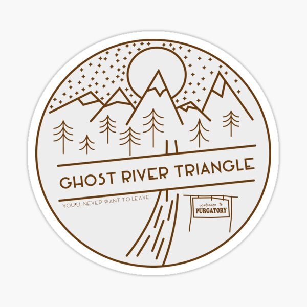 Ghost River Triangle Welcome Sticker