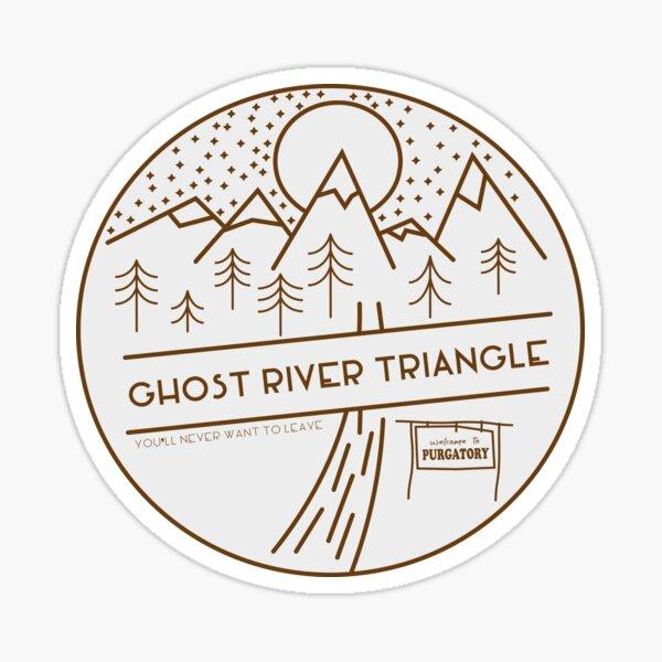 Bienvenido al Triángulo del río fantasma Pegatina