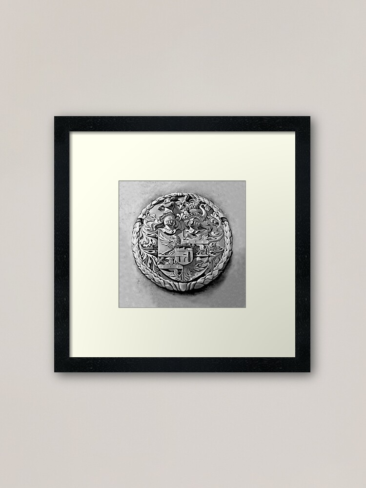 Alternate view of Antique Print of Genetti Coat-of-Arms Framed Art Print