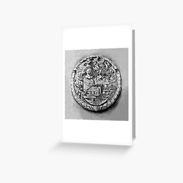 Antique Print of Genetti Coat-of-Arms Greeting Card