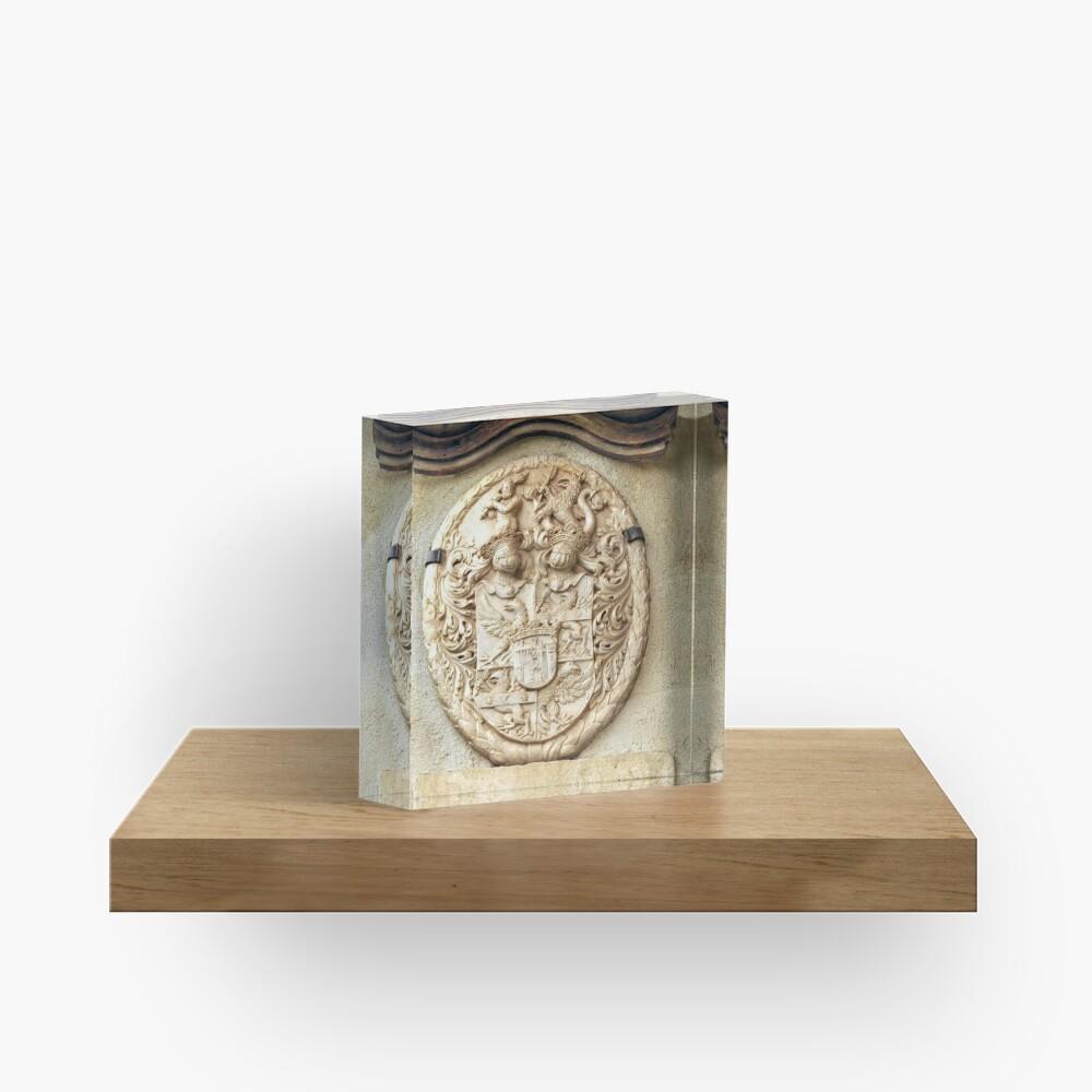 Genetti Family Coat-of-Arms Acrylic Block