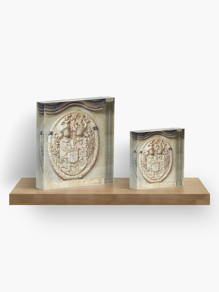 Alternate view of Genetti Family Coat-of-Arms Acrylic Block