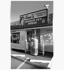 Route 66 - Ann's Chicken Fry House Poster
