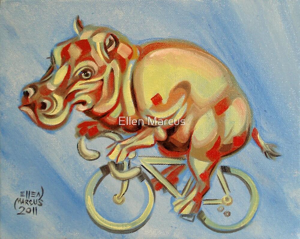 Hippopotamus On A Bicycle by Ellen Marcus