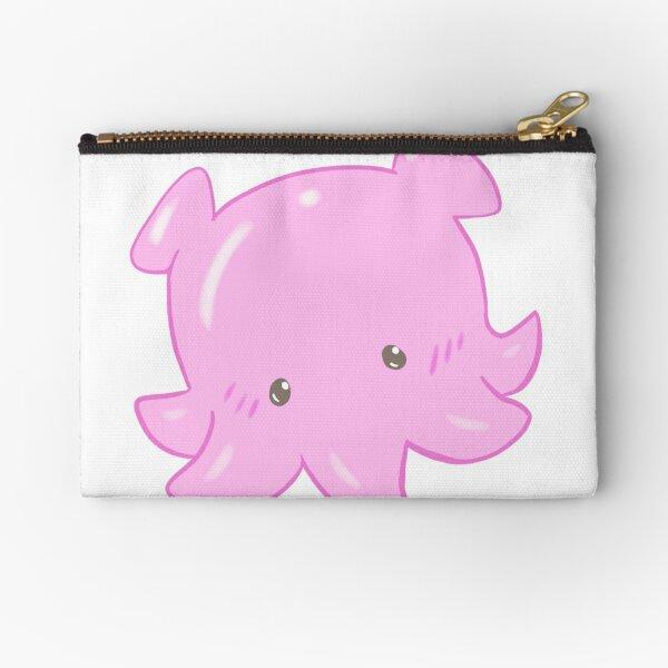 Pink Octopus Zipper Pouch