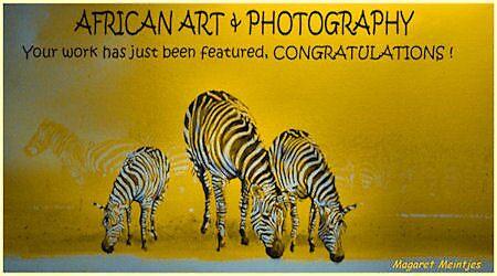 AFRICAN ART FEATURE BANNER by Magriet Meintjes