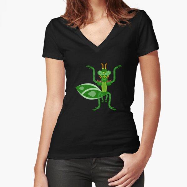 Mantis Fitted V-Neck T-Shirt