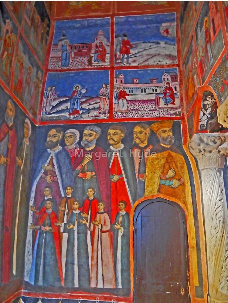Religious Art, The Great Church of the Monastery, Sinaia, Romania (1) by Margaret  Hyde