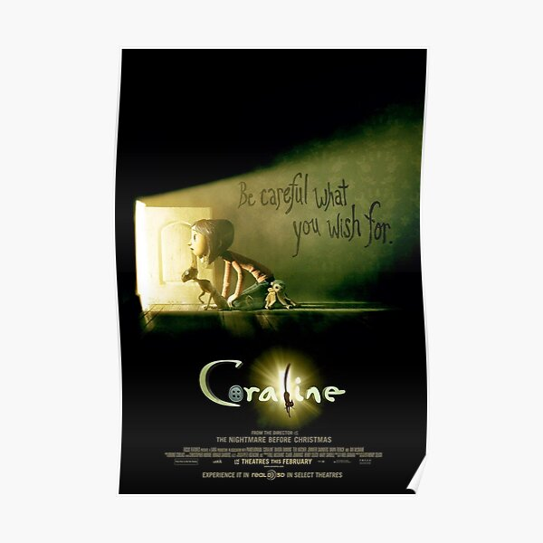 Coraline poster Poster