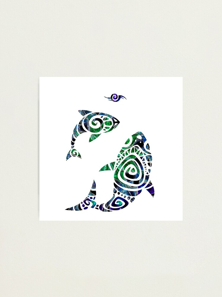 Tribal Fish Tattoo Photographic Print By Sugar Magnolia Redbubble