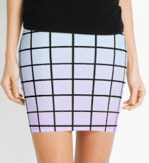 Pastel Grid Mini Skirt