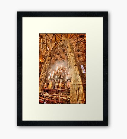Jerónimos candles Framed Print
