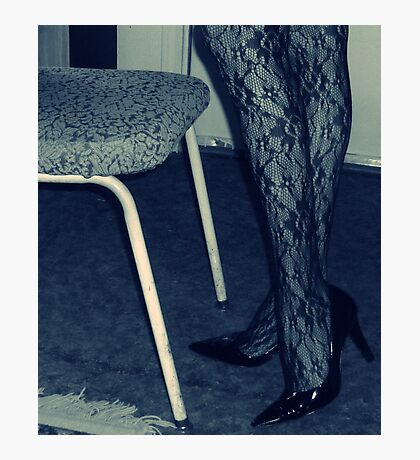 Uninspired, So Here's Some Legs and a Chair Photographic Print