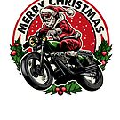 Santa Claus crazy biker, the perfect Christmas gift for riders. by hypnotzd