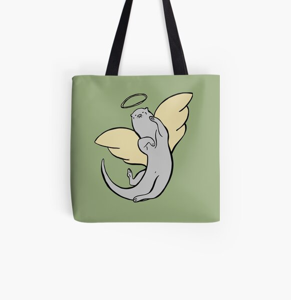 Otter Angel Swimming Through The Heavens All Over Print Tote Bag