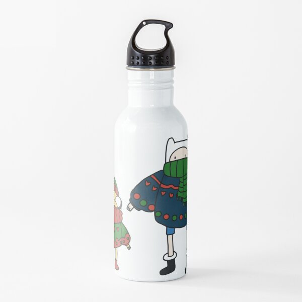 Finn and Jake Christmas Sweaters Water Bottle