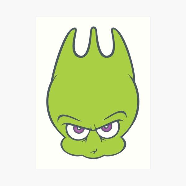 Alien Green SPORKY! Art Print