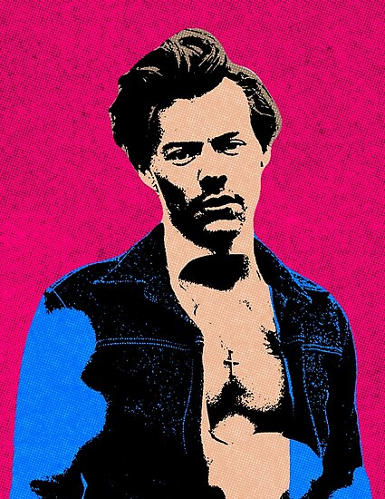 Harry (Pop Art) Photographic Print by Actuallydominic