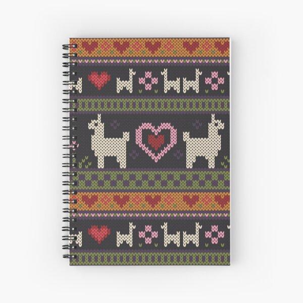 Llama Knit Spiral Notebook
