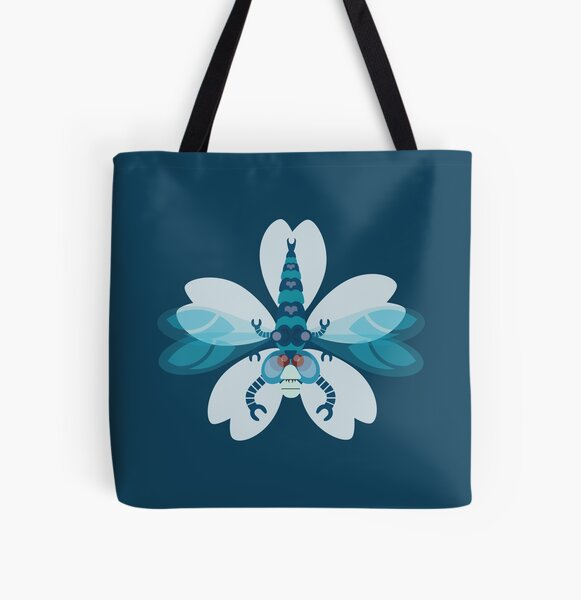 Dragonfly All Over Print Tote Bag