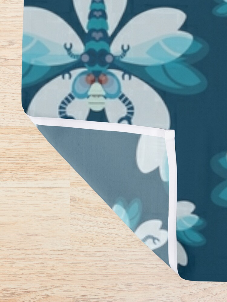 Alternate view of Dragonfly Shower Curtain