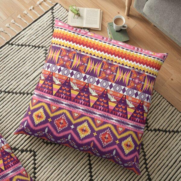 Pink and Orange Aztec Merchandise Floor Pillow