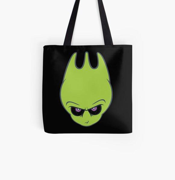 Vintage Green -Super Alien Sporky! All Over Print Tote Bag
