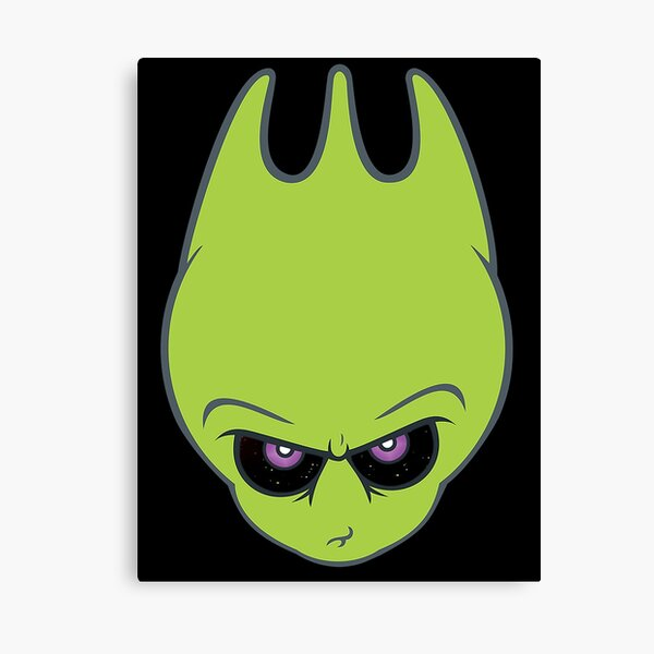 Vintage Green -Super Alien Sporky! Canvas Print
