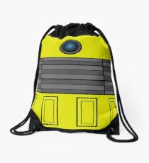 Not a robot. Yellow. Inspired by Daleks. Drawstring Bag