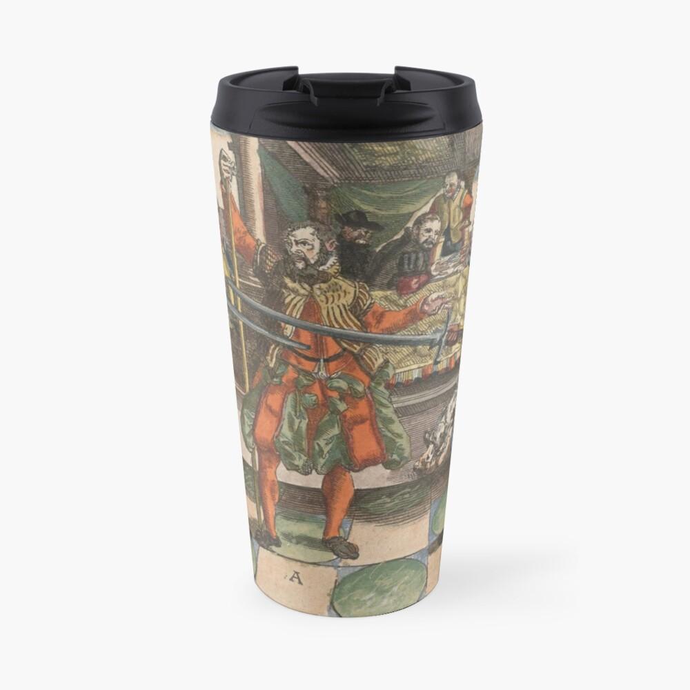 Joachim Meyer Medieval Sword Master HEMA Travel Mug