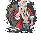 "Tattooed Santa Claus and his bag full of ""alternative"" Christmas gifts. by hypnotzd"