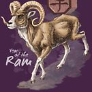 Year of the Ram (for dark shirts) by Stephanie Smith