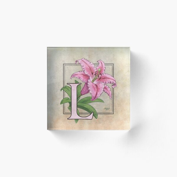 L is for Lily Acrylic Block