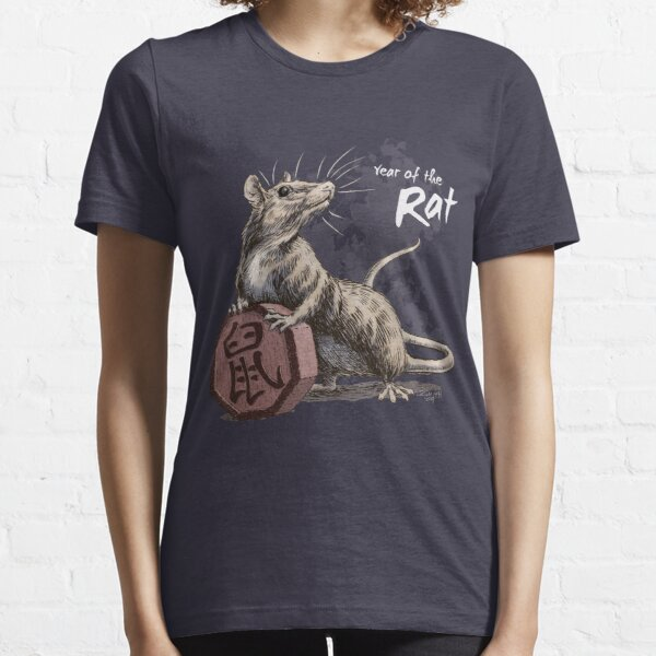 Year of the Rat (for dark shirts) Essential T-Shirt