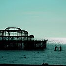 Brighton Pier Ruins  by lissyS