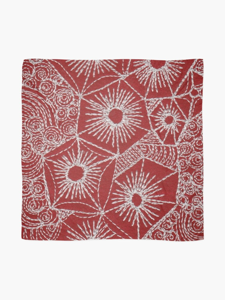 Alternate view of Rock Pool Red  Scarf