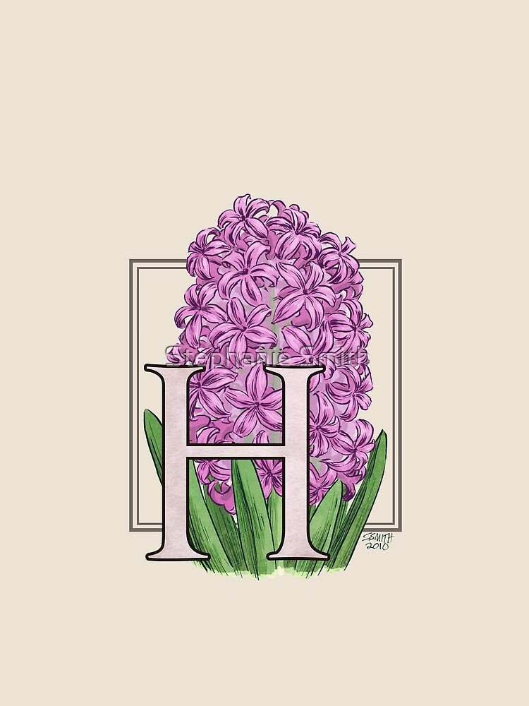 H is for Hyacinth Flower Monogram by stephsmith