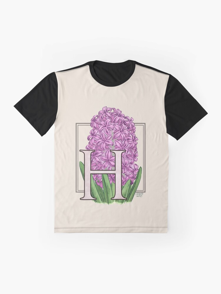 Alternate view of H is for Hyacinth Flower Monogram Graphic T-Shirt