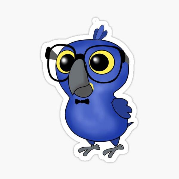 Nerdy Birdy: Hyacinth Macaw Sticker