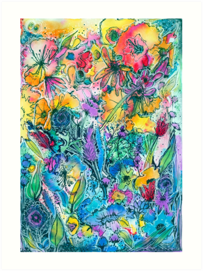 Flower Maze - Kerry Beazley by Kerry Beazley Kaboom Art