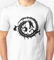 Coiled Black Dragon Unisex T-Shirt