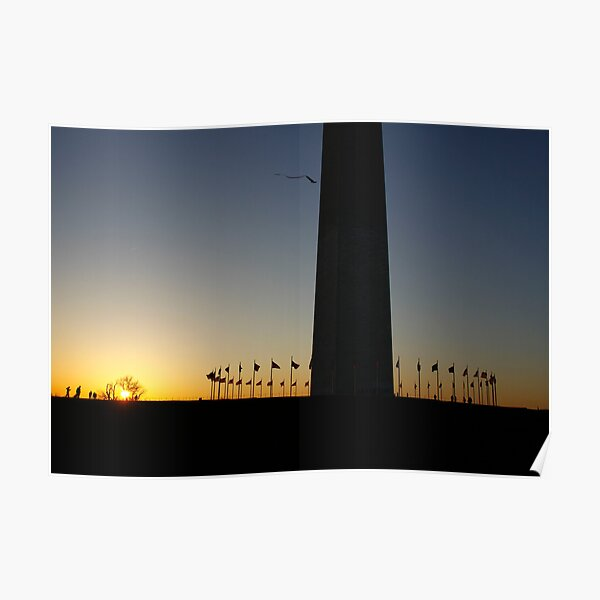 Sunset at Washington Monument Poster