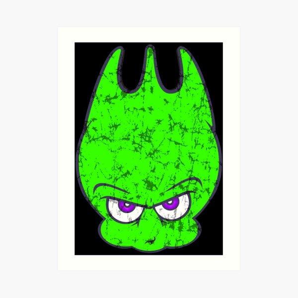 Vintage Neon Alien Sporky Art Print