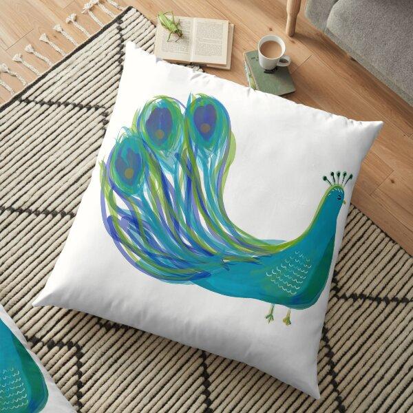 Fancy Pants Peacock Floor Pillow