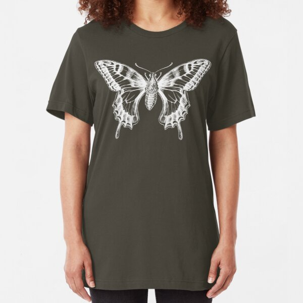 Butterfly Ghost Slim Fit T-Shirt